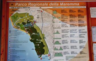PARC01 - Bio-Weingut im Parco della Maremma - Karte