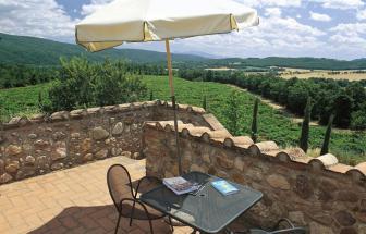 MURL01 - Kleine Ferienanlage bei Murlo - Campolungo Terrasse