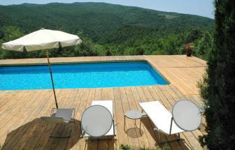 MURL01 - Kleine Ferienanlage bei Murlo - Pool bei Podere Le Caselle