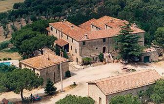 ROST01 - Olivenöl-Mühle bei Roccastrada - Luftaufnahme
