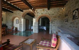 CORT09 - Villa Fontocchio bei Cortona - Balkendecke