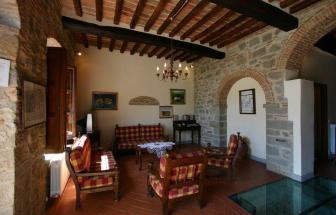 CORT09 - Villa Fontocchio bei Cortona - Wohnzimmer