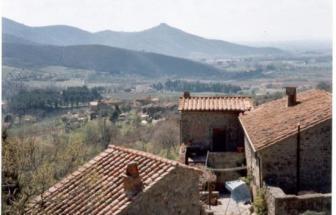 CORT11 - Casale bei Cortona - Blick über Dächer