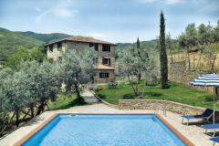 Bio-Agriturismo bei Castiglion Fiorentino  - Haus mit Pool